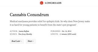 Cannabis Conundrum on Longreads