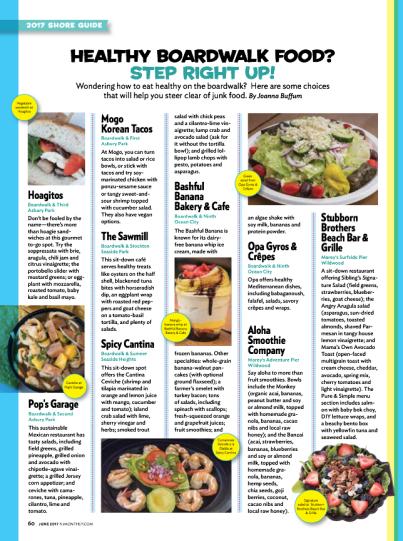Healthy Boardwalk Food